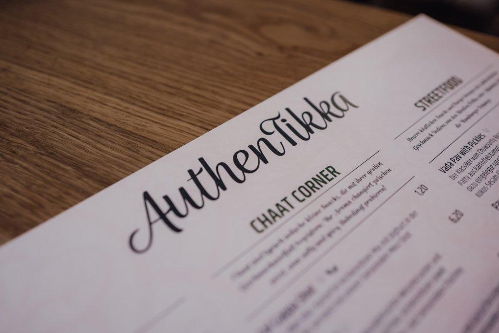 Indisches Restaurant AuthenTikka Speisekarte
