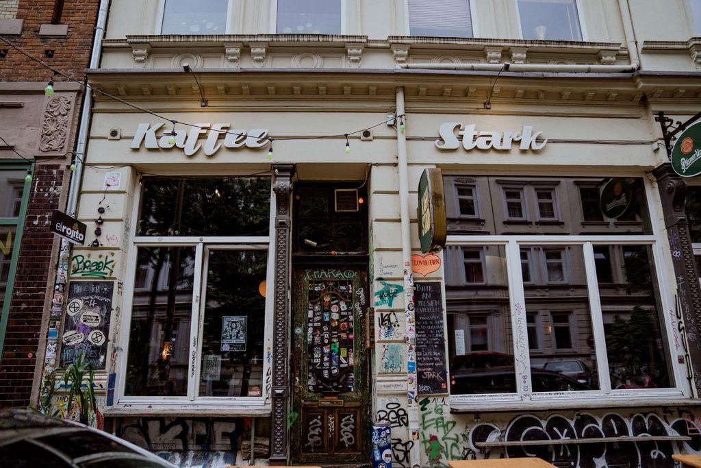 Das Kaffee Stark in der Wohlwillstraße.