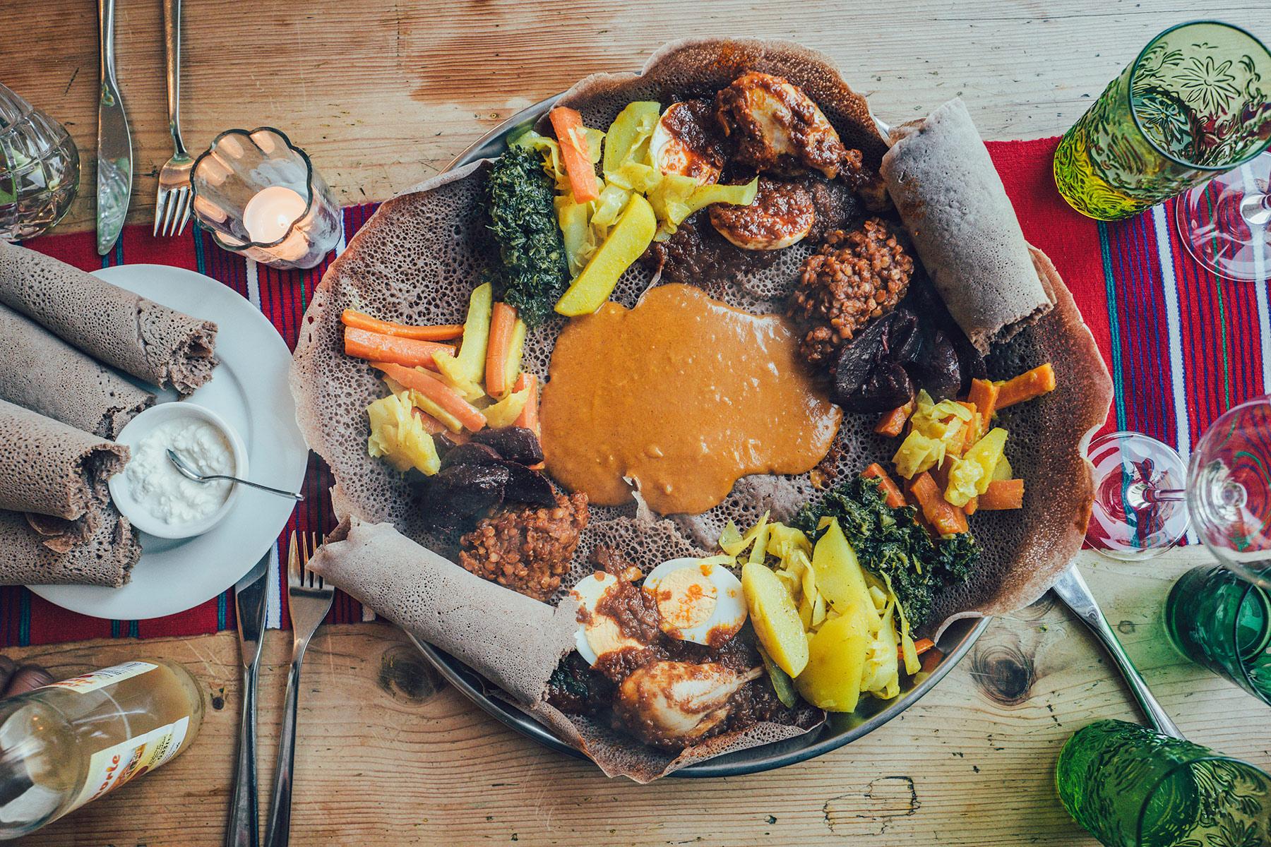 Äthiopische Küche at its best!