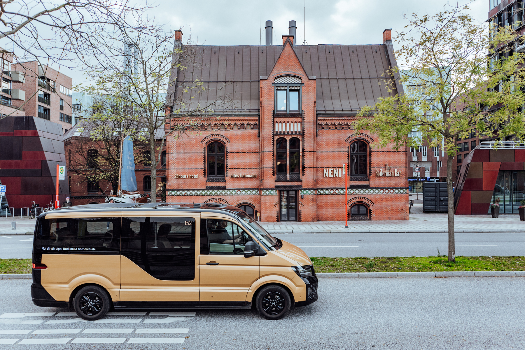 Das NENI im historischen Backsteingebäude.
