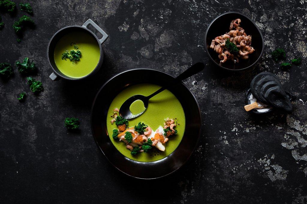 Köstliche Grünkohlsupper mit Seafood! – ©Conny Wagner