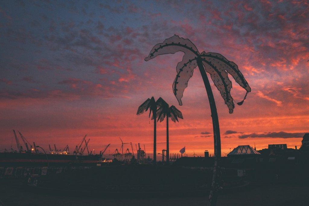 Park Fiction bei Sonnenuntergang