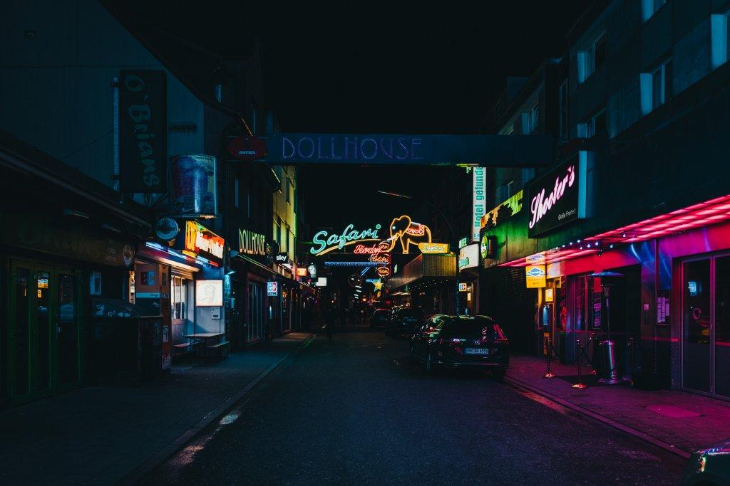 Nachts auf der Reeperbahn Hamburg Grosse Freiheit