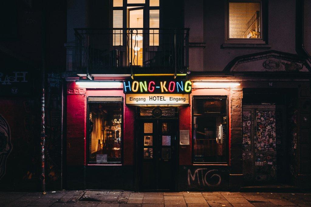 Nachts auf der Reeperbahn Hamburg Hotel Hong Kong