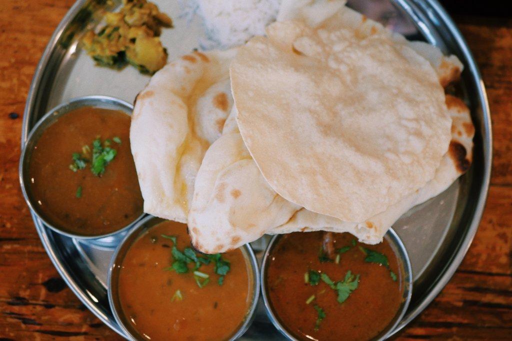 Indische Gerichte Foto von traditionellem Essen
