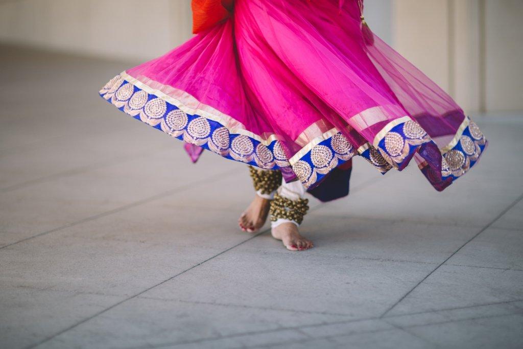 Bollywood in Indien Foto von traditioneller Kleidung