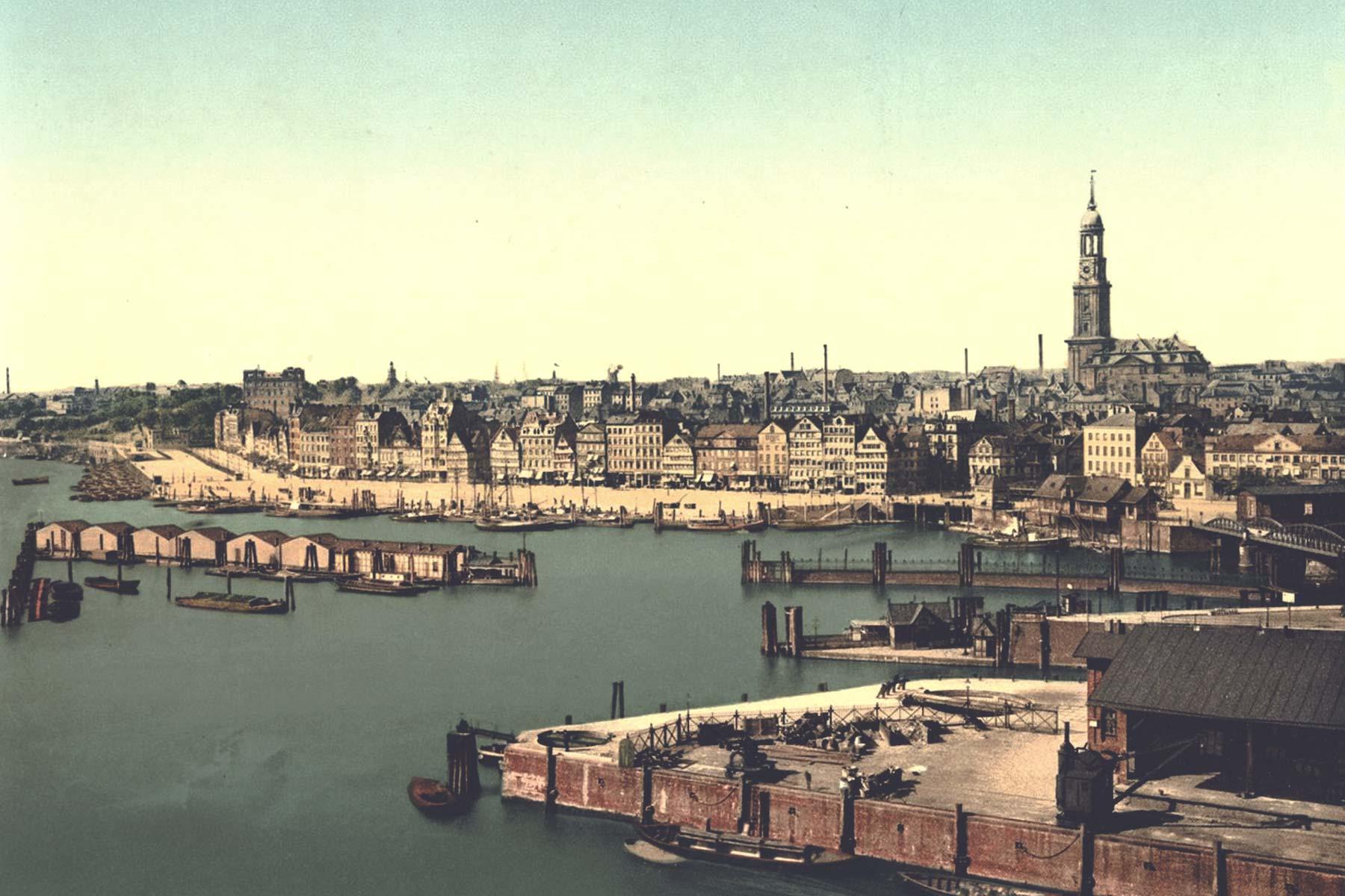 Sandtorkai mit Blick auf die Stadt – ©Library of Congress