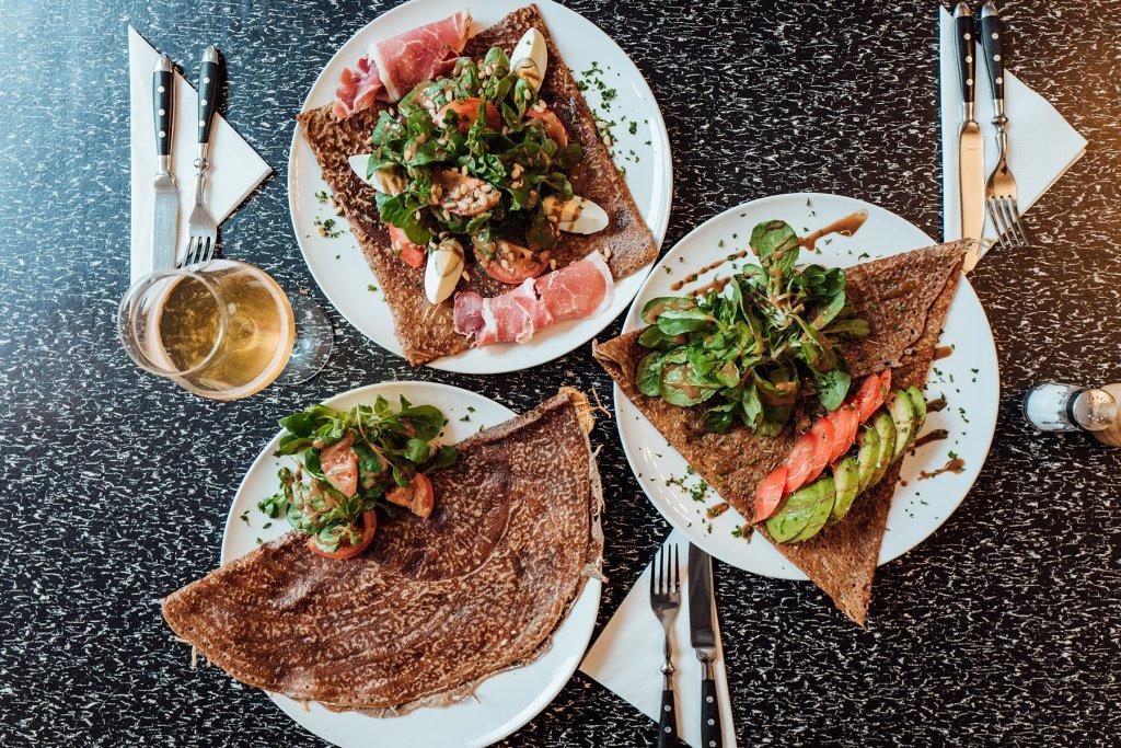 Restaurant La Crème de la Crêpe Salzige Crêpes