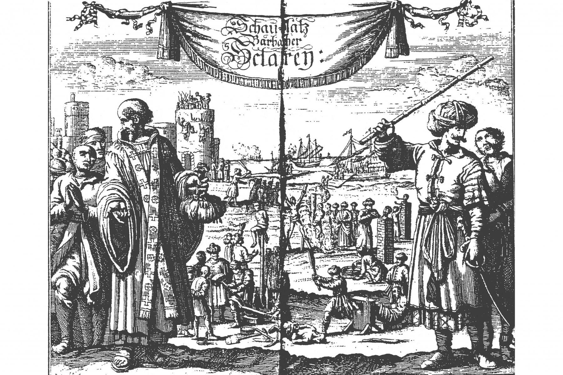 Alte Zeichnung von Sklaverei – ©Stiftung Historische Museen Hamburg
