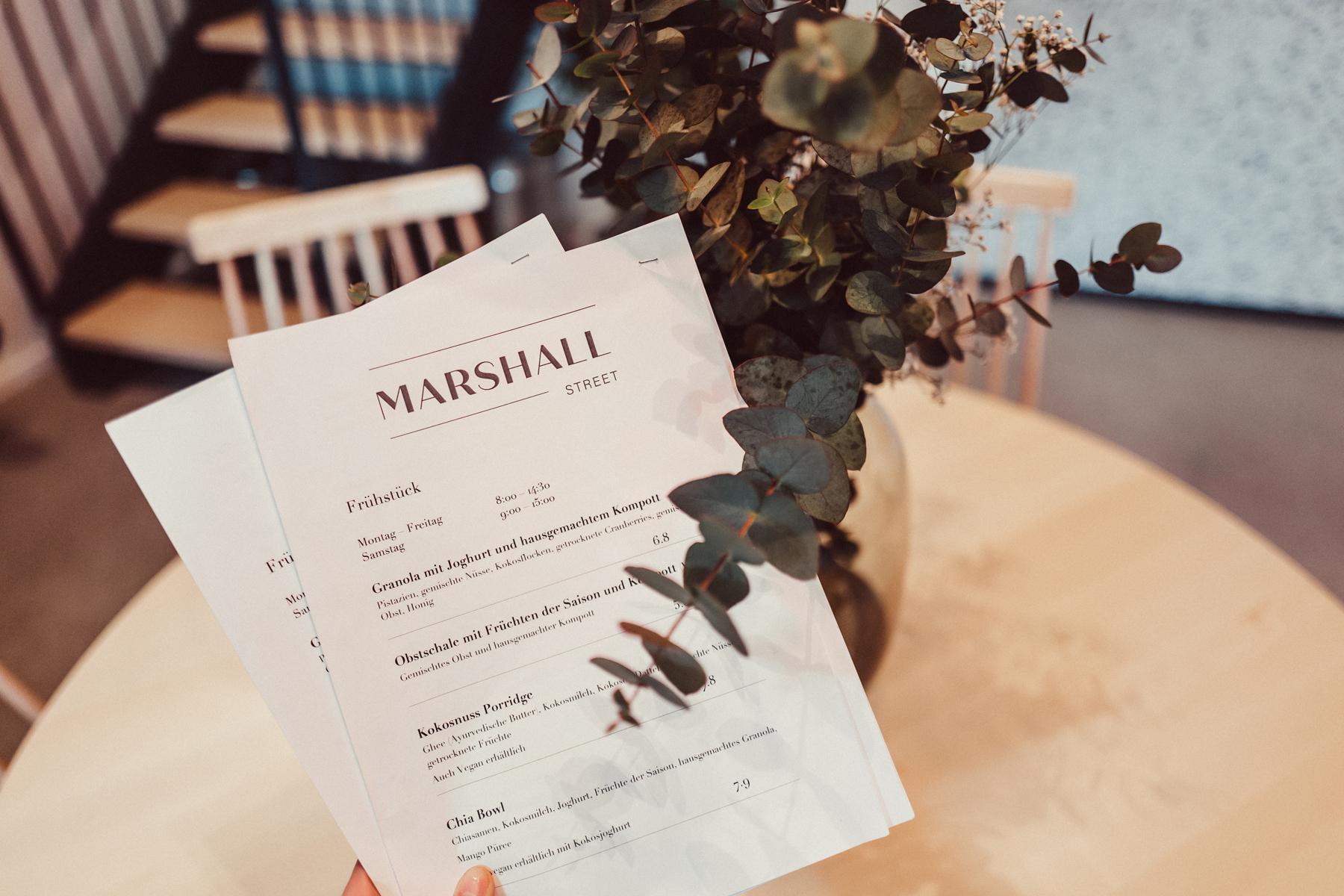 Marshall Street Coffee Speisekarte