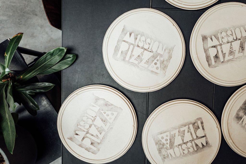 Kompostierbare Pizzakartons von Mission Pizza