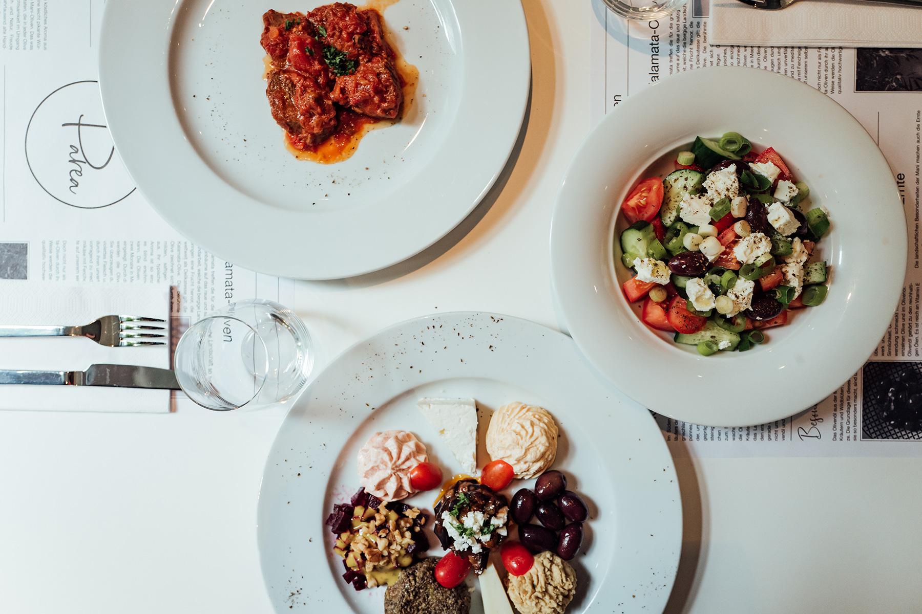 Parea Speisen im griechischen Restaurant