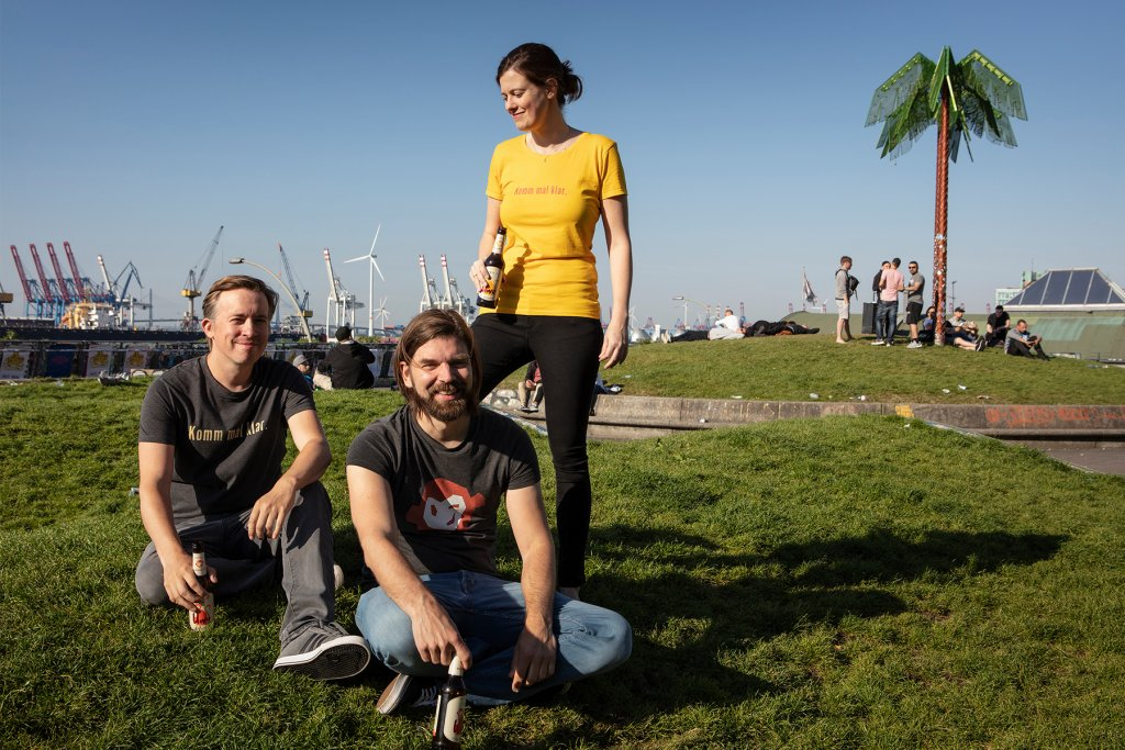 Lala, Philip und Sönke, das Uwe Team. – ©Uwe