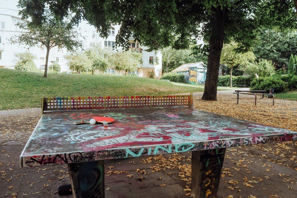 Die Platte im Flora Park hat schon einiges erlebt.