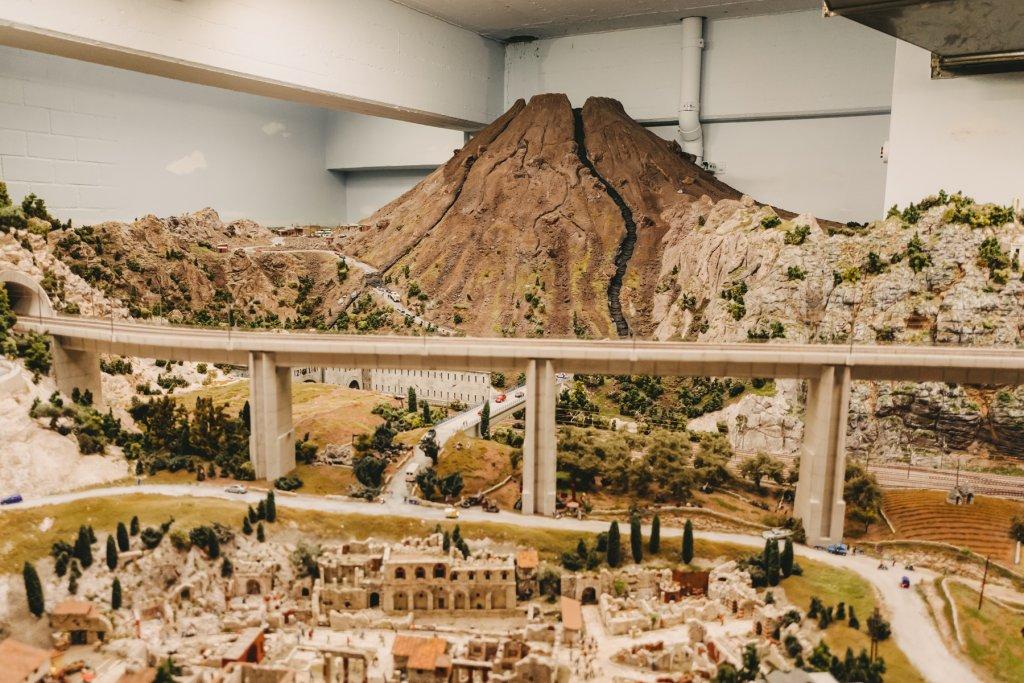 Der Vesuv und Pompeji